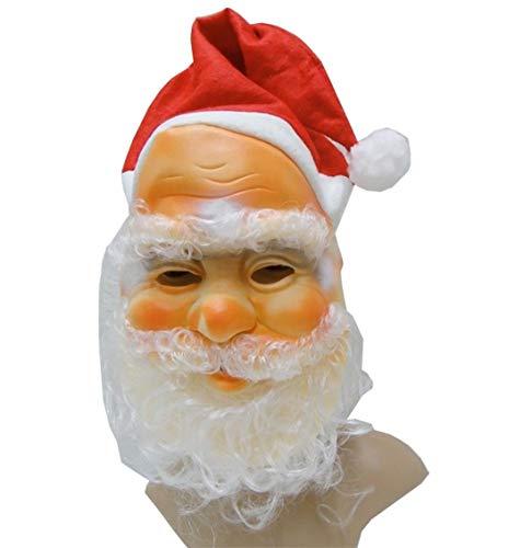 Islander Fashions Santa Gesichtsmaske mit Hut und Bart Weihnachten Xmas Kost�m Kost�m Zubeh�r One Size