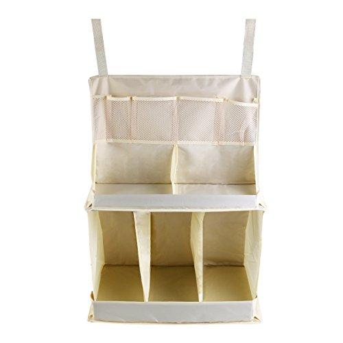 Taschen Windeln Krippe (URAQT Baby Kinderzimmer Organizer, Schrank-Organizer, Beutel-Speicher-Windel-Baby-Krippe Wipes, Baby-Bett-hängende, Reichlich Stauraum für Windeln und Feuchttücher)