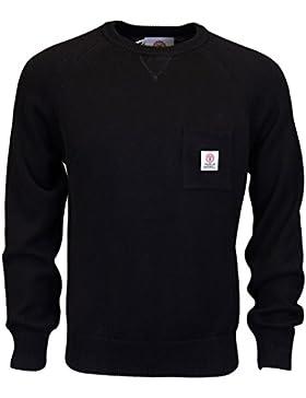 Franklin & Marshall Ca043cuello redondo algodón negro prendas de punto