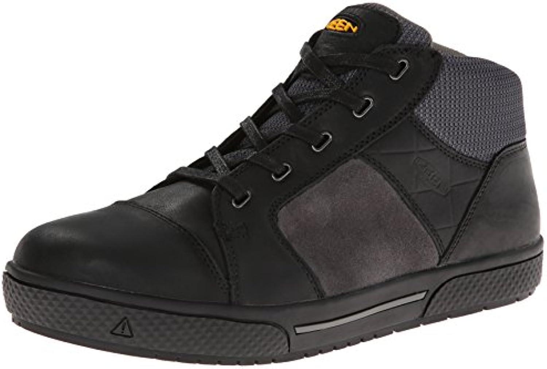 Keen Utility Men's Destin Mid Steel Toe Shoe Black/Gargoyle 9 EE US