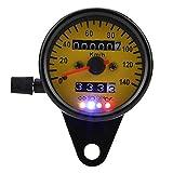 Contachilometri Calibri Moto, Calibro del Tachimetro da 60 mm con Indicatore Nero