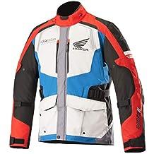 Alpinestars Chaqueta para moto Andes V2 drystar Jacket Honda Gris Azul Rojo M