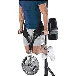 Grofitness - Cinturón de bajada y subida, para pesas ligeras, apoyo corporal, ideal para hacer ejercicio, con cadena