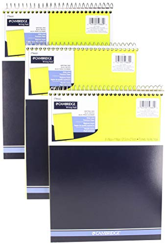 Mead Legal Pad, Top Spiralbindung, breit liniertes Papier, 70Blatt Zählen, 8-1/5,1x 27,9cm (3Pack)