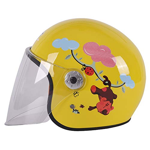 YAJAN-helmet Bambino Casco per Bambini,Casco Moto,S 49-50cm Four Seasons Urban Skate Casco Moto Harley Battery Car Uomo e Donna Bambino Casco per l'età 3-7 Anni