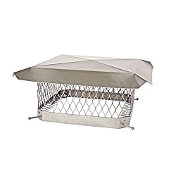 Shelter SCSS1318 Stainless Steel Chimney Cap, Fits Outside Tile, 13 x 18