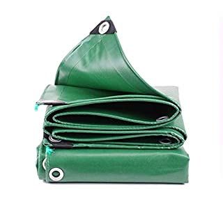 YFCLA Bâche de Protection à œillets Revêtement en résine PVC tissé Haute densité, Résistante aux UV, Thickness 0.4MM,pour Le Camping/La Pêche/Le Jardinage Et Les Animaux,5X7