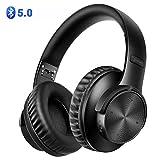 BAONUOR Bluetooth Kopfhörer 5.0, Kabelloser Kopfhörer Over-Ear, Stereo Sound mit Bass, Noise Cancelling Kopfhörer, drahtlos Kopfhörer mit Mikrofon, für iPhone, Samsung, Tablets und PC