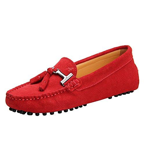 Women39;s Pour Avec Shenduo Shoes Femme Daim Mocassins En 8xAHv