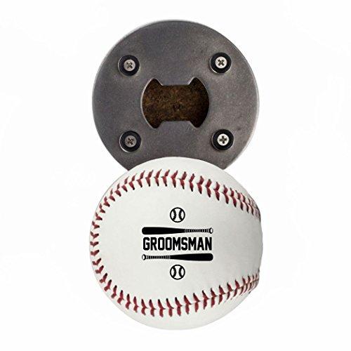 Groomsman Baseball-Geschenk, aus einer echten Baseball, die baseballopener, Cap Catcher, Kühlschrank Magnet