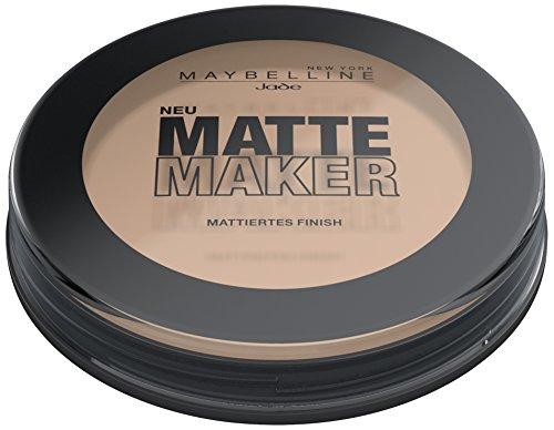 35 Matt (Maybelline Matte Maker Puder Nr. 35 Amber Beige, nimmt überschüssiges Öl auf der Haut auf, für einen perfekt mattierten Teint, angenehmer Tragekomfort, langanhaltend, 16 g)