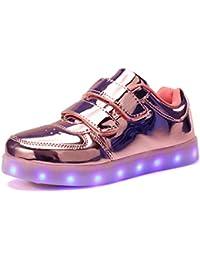 VOOVIX Kinder Schuhe mit Licht Led Leuchtende Blinkende Low-top Sneaker USB Aufladen Shoes für Mädchen und Jungen