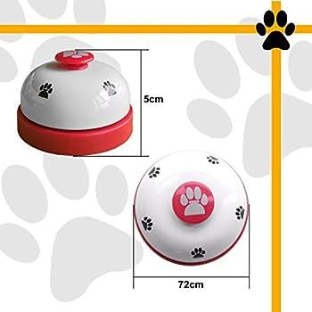CUKCIC Cloche d'Apprentissage de Animal Pet Domestique Sonnettes pour Chien Chat Formation Communication Domestication (Ensemble de 2 pièce, Rouge + Blanc)