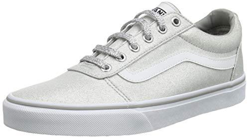 Vans Damen Ward Canvas Sneaker, Grau ((Lurex Glitter) Silver V2a), 36.5 EU