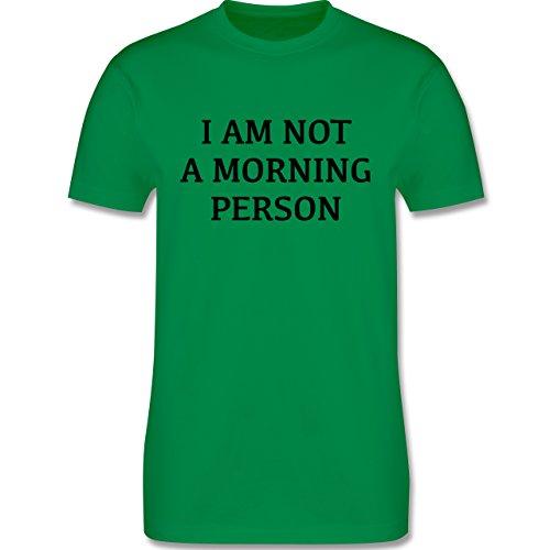Statement Shirts - I am not a morning person - Herren Premium T-Shirt Grün