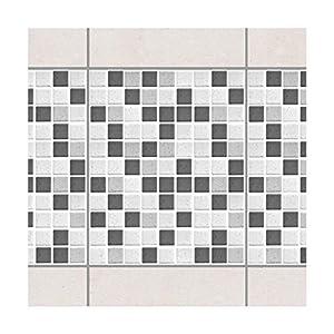 Apalis Fliesenaufkleber Fliesen-Deko Mosaikfliesen Grau 20x25 Set 20teilig