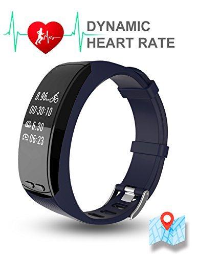 TOM Tony P5, GPS fitness Band e attività Tracker, built in GPS/dinamica frequenza cardiaca monitoraggio, P5, Black