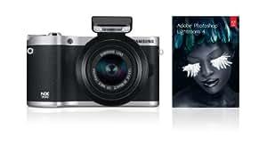 Samsung SMART NX300 Compact System Camera with 20-50mm Lens - Black (20.3 MP, CMOS Sensor) 3.3 inch Amoled