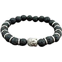Stein-Tiger-Augen-Gold-Buddha-Kopf der neuen Art- und Weisekühlen Männer wulstiges Armband-Energie-Armband Neuer... preisvergleich bei billige-tabletten.eu