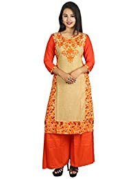 This KNOTS & THREADS Kurti With Palazzo Set Has Beautifully Design By Latest Creation Of KNOTS & THREADS.This...
