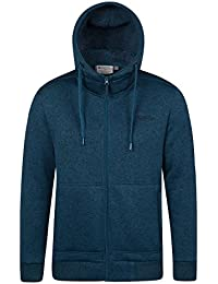 Mountain Warehouse Sweat Homme capuche Zippé Cordon de serrage Coupe-vent Nevis