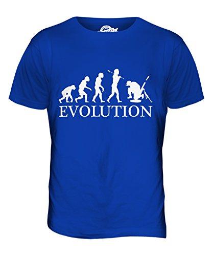 CandyMix Mörser Geschütz Soldat Mörtel Evolution Des Menschen Herren T Shirt Königsblau