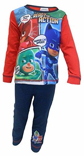 n Schlafanzug Jungen Pyjama-Set Alter 18 Monate bis 5 Jahre[4-5 Jahre][Rot] (Kinder-weihnachts-pj)