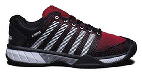 K-Swiss - Ks Hypercourt Exp Hb, Sneaker Uomo Nero/Rosso