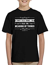 3b72b6a6318b Coto7 I Dont Talk Things Sir Fahrenheit 451 Quote Kid s T-Shirt