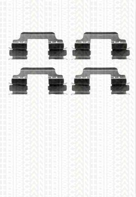 Triscan 8105101635 Kit pastiglie freni per asse anteriore