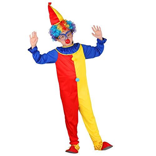 Yaxuan Halloween Kinder Clown Fancy Kleid Jumpsuit Kostüm-Outfit Halloween/Karnevalsfest/Urlaub Halloween-Kostüme,Picturecolor,XL