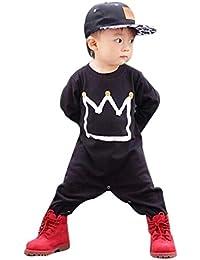 para la ropa de los muchachos,RETUROM suave cómodo del niño recién nacido Niño Niña Print Romper mono del mono de ropa Trajes