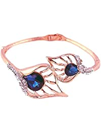 Crystal Peacock Feather Bracelets For Women