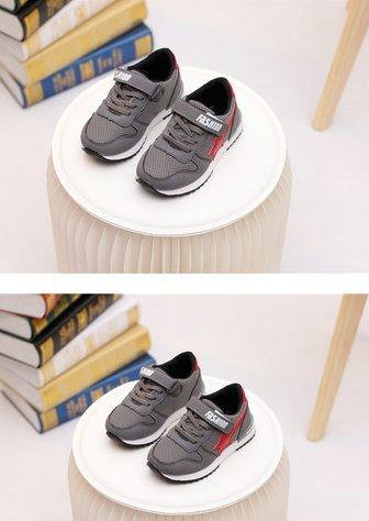 Ohmais Enfants Filles Garçon Chaussure de loisir chaussure de sport souliers Gris