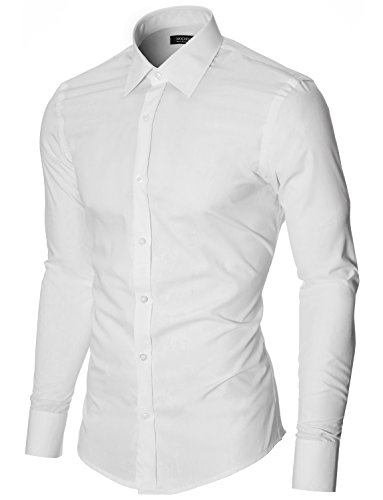 MODERNO - Slim Fit Business Hemd (MOD1426LS) Weiss EU L