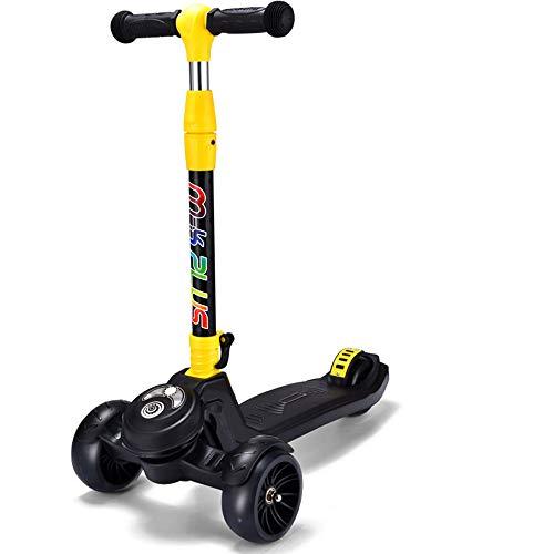 HTOOLA Kinder Roller 2-3-6-14 Jahre Anfänger Flash Pedal Klapprad Dreirad,B