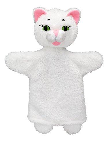 MU mubrno 24601a Gatito Blanco, marioneta de Mano