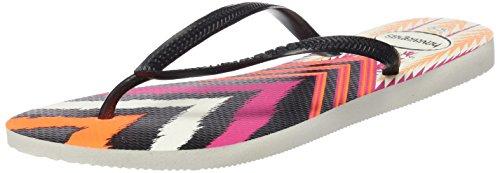 Havaianas HAV SLIM TRIBAL - Infradito Donna, Multicolore (BLACK 0128), 35/36 EU