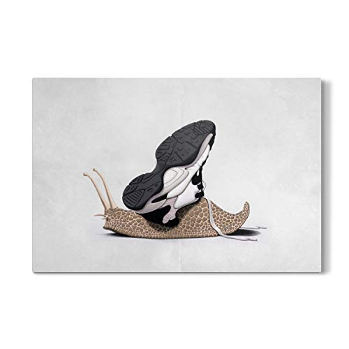 artboxONE Galerie-Print 150x100 cm The Sneaker (Wordless) hochwertiges Acrylglas auf Alu-Dibond von Rob Snow Gp-antenne
