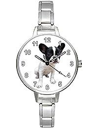 Bulldog francés Italian Charms Reloj para Mujer