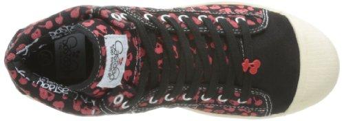 Le Temps des Cerises Basic 03, Scarpe sportive donna Nero (Noir (Cherry/Black/Red))