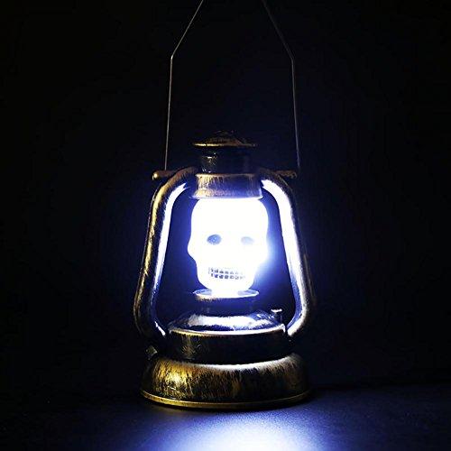 Kürbis Hexe Schädel Latttern Lampe Halloween Dekoration Beleuchtung Umwelt Kunststoff Material LED Lichtquelle ungiftige Malerei Batterie Stromversorgung skull
