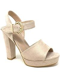 ff1733c34634d7 Angkorly - Damen Schuhe Pumpe Sandalen - High Heels - Offen - Plateauschuhe  - String Tanga - Basic - Schleife…