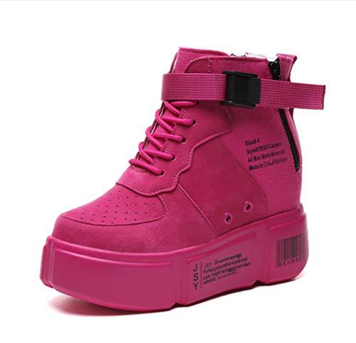 SHANGWU Mode féminine Wedge Sneakers Sky High Chaussures de Sport de Chaussures Femmes Version coréenne de Baskets Respirant Sauvages Harajuku (10CM)
