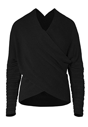 Musterbrand Star Wars Pullover Damen Dark Rey Wrap Top schwarz 44 (XXL) Wrap-top Jacke