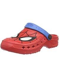 Spiderman Boys Kids Clog Sandals And Mules, Sabots garçon