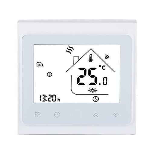 WiFi Smart Thermostat, LCD Touch Screen elektrischer Heizungs Temperaturregler für Haus und Büro, Online Fernsteuerung per Smartphone