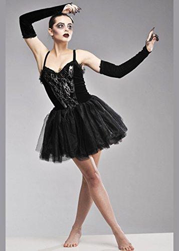 Schwan Gothic Ballerina Kostüm M (UK 10-12) (Schwarze Ballerina Kostüm)