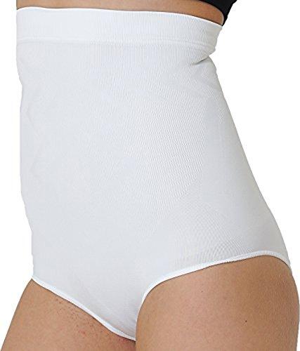 formender Miederslip ohne Bein, bauchhoch - Bauchweg Unterhose Bauch Weg Slip Shapewear (S, Weiss) ()