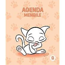Agenda Mensile - S: Colore Pesca - Gatti - Perpetua (Senza date) - 12.5x15 cm